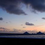Sunset over salt company Cargill